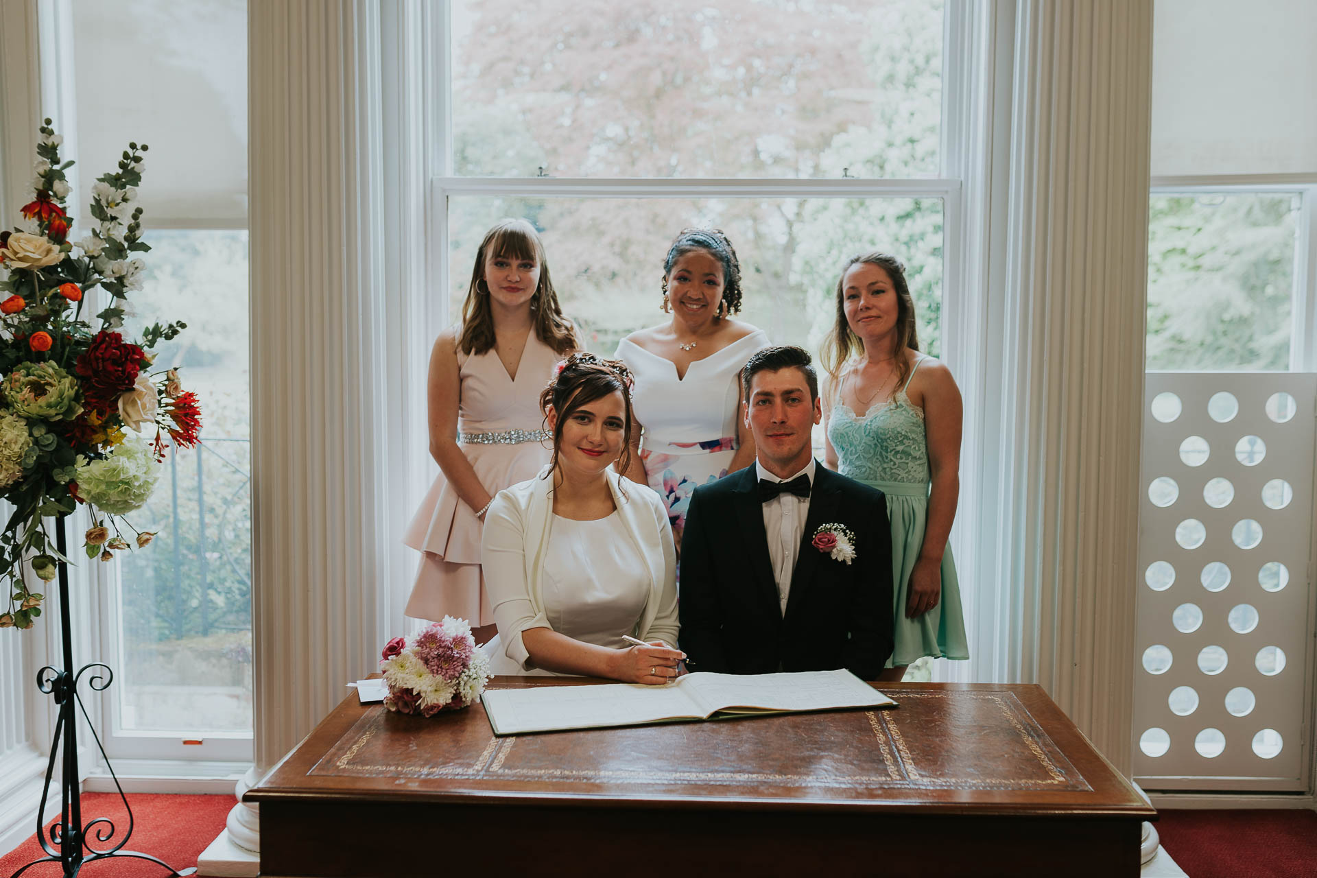 wedding group photos in the registry office