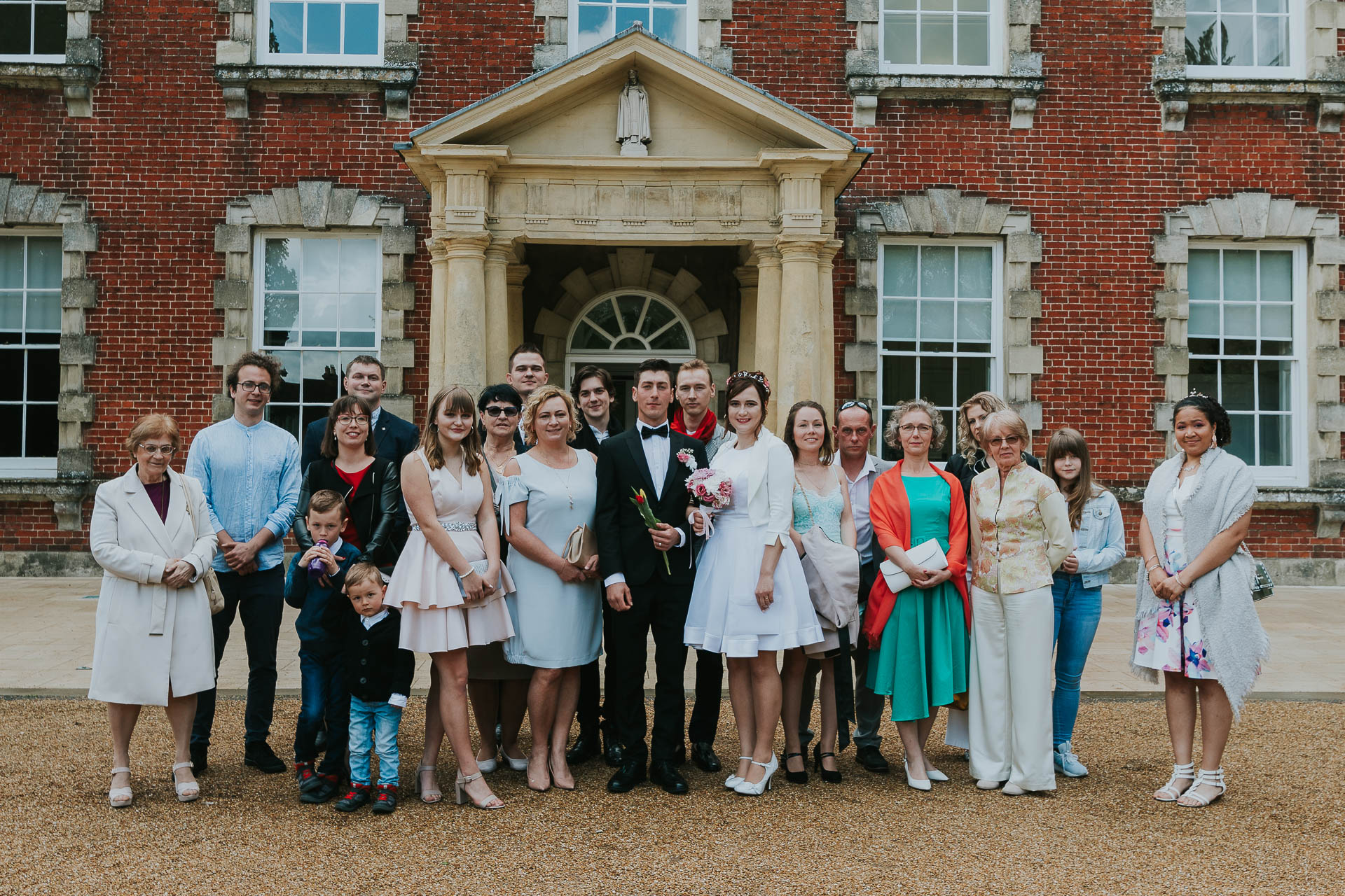 Group photo outside the Salisbury Registry Office